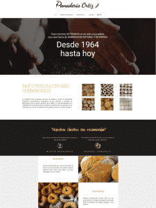 diseño gráfico web panadería ortiz