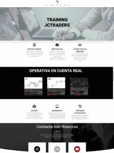 diseño grafico de web jctraders